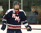 Tyson Wilson (RMU - 4) - The Bentley University Falcons defeated the visiting Robert Morris University Colonials 2-1 on Friday, January 6, 2012, at the John A. Ryan Skating Arena in Watertown, Massachusetts.
