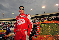 May 2, 2009; Richmond, VA, USA; NASCAR Sprint Cup Series driver Kyle Busch prior to the Russ Friedman 400 at the Richmond International Raceway. Mandatory Credit: Mark J. Rebilas-