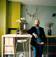 A portrait of Jean-Bastien Lagrange an interior designer and contemporary photographer