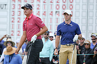 Christiaan Bezuidenhout (RSA) and Rory McIlroy (NIR) on the 11th tee during the final round of the Arnold Palmer Invitational presented by Mastercard, Bay Hill, Orlando, Florida, USA. 08/03/2020.<br /> Picture: Golffile | Scott Halleran<br /> <br /> <br /> All photo usage must carry mandatory copyright credit (© Golffile | Scott Halleran)