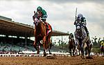 MAY 27: Vino Rosso with John Velazquez defeats Gift Box and Joel Rosario to win The Gold Cup at Santa Anita at Santa Anita Park in Arcadia, California on May 27, 2019. Evers/Eclipse Sportswire/CSM