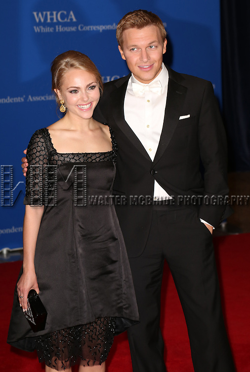 AnnaSophia Robb and Ronan Farrow attend the 100th Annual White House Correspondents' Association Dinner at the Washington Hilton on May 3, 2014 in Washington, D.C.