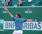 Roger Federer (SUI) defeats Radek Stepanek (CZE) 6-1, 6-2 at the Monte Carlo Rolex Masters tournament in Monte Carlo, Monaco on April 17, 2014.