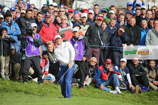 Rory McIlroy (EUR) during the Saturday morning Fourballs of the 2014 Ryder Cup at Gleneagles. The 40th Ryder Cup is being played over the PGA Centenary Course at The Gleneagles Hotel, Perthshire from 26th to 28th September 2014.: Picture Kenneth E.Dennis, www.golffile.ie: \27/09/2014\