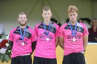 KAATSEN: KIMSWERD: Winnaars hoofdklassepartij, Dylan Drent, Bauke Triemstra en Patrick Scheepstra, ©foto Martin de Jong