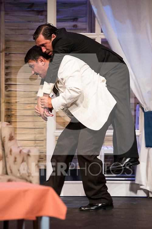 Jose Luis Gago and Alex Cueva at &quot;Usted puede ser un asesino&quot; Theater play in Mu&ntilde;oz Seca Theater, Madrid, Spain, September 07, 2015. <br /> (ALTERPHOTOS/BorjaB.Hojas)