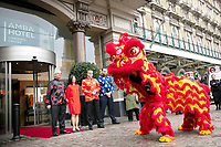 Chinese New Year Lion Dance at Amba Hotel Charing Cross