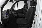 Front seat view of a 2019 Mercedes Benz Sprinter-Cargo-Van Base 4 Door Cargo Van front seat car photos