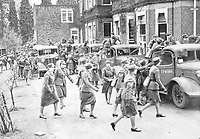 """BNPS.co.uk (01202 558833)<br /> Pic: Pen&Sword/BNPS<br /> <br /> PICTURED: A """"scramble"""" at 2 M.T.T.C., Camberley.<br /> <br /> These inspiring photos of nurses on the front line feature in a new book which charts a century's heroic wartime service.<br /> <br /> The First Aid Nursing Yeomanry (FANY) was founded in 1907 by Captain Edward Baker with the early recruits trained in cavalry, signalling and camping.<br /> <br /> They were despatched to France at the outset for World War One to tend to injured troops on the battlefield, setting up hospitals for the many casualties. Other heroines dragged wounded personnel from exploding ammunition dumps.<br /> <br /> The brave nurses were again in the centre of the action in World War Two, performing sterling work in the harshest of conditions.<br /> <br /> Their stories feature in The First Aid Nursing Yeomanry in War and Peace, by Hugh Popham."""