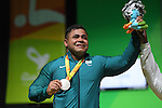 Evanio Da Silva (BRA), <br /> SEPTEMBER 13, 2016 - Powerlifting : <br /> Men's -88kg Medal Ceremony <br /> at Riocentro - Pavilion 2<br /> during the Rio 2016 Paralympic Games in Rio de Janeiro, Brazil.<br /> (Photo by AFLO SPORT)