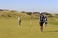 Kevin Phelan (IRL) on the 7th green during Round 1 of the 2015 Alfred Dunhill Links Championship at Kingsbarns in Scotland on 1/10/15.<br /> Picture: Thos Caffrey | Golffile