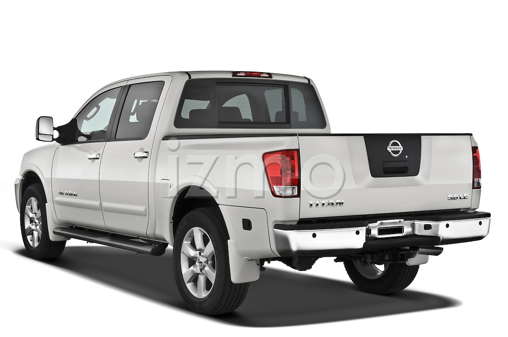Rear three quarter view of a 2008 Nissan Titan