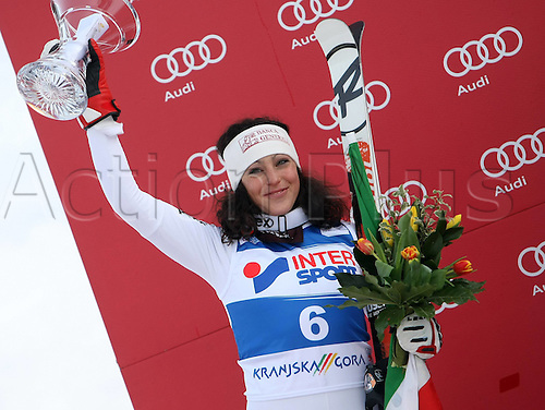 21 01 2012   Kranjska Gora Slovenia Ski Alpine FIS World Cup Giant slalom for women Award Ceremony Picture shows Federica  ITA