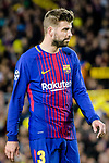 Gerard Pique Bernabeu of FC Barcelona reacts during the UEFA Champions League 2017-18 quarter-finals (1st leg) match between FC Barcelona and AS Roma at Camp Nou on 05 April 2018 in Barcelona, Spain. Photo by Vicens Gimenez / Power Sport Images