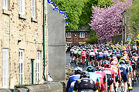 Picture by SWpix.com - 04/05/2018 - Cycling - 2018 Tour de Yorkshire - Stage 2: Barnsley to Ilkley - Yorkshire, England - The peleton comes through Elsecar.