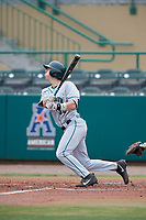 Dartmouth Big Green center fielder Trevor Johnson (36) follows through on a swing during a game against the USF Bulls on March 17, 2019 at USF Baseball Stadium in Tampa, Florida.  USF defeated Dartmouth 4-1.  (Mike Janes/Four Seam Images)