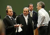 Processo  contro la presunta compravendita dei senatori <br /> nella foto  John henry Woodcock, Antonio Di Pietro e Niccolo Ghedini