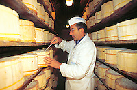 - production of DOC gorgonzola cheese, aging control <br /> <br /> - produzione del formaggio gorgonzola DOC, controllo della stagionatura
