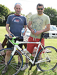 Johnny and Cillian Bellew who took part n the annual Dromin charity cycle in aid of Ardee Hospice.  Photo:Colin Bell/pressphotos.ie