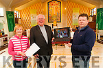 Live to the World : Abbeyfeale Church has now officially on it's church webcam broadcasting its services live to the world. Up to 10.30 on Friday last 949 viewers from 21 different countries had viewed the site. Pictured with the webcam live in on Friday last were Bridie Collins. Canon John O'Shea, P.P.  & Maurice O'Connell, project co-ordinator.