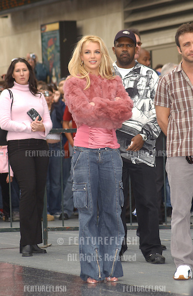 Pop star BRITNEY SPEARS on Hollywood Blvd where she was honored with the 2,242nd star on the Hollywood Walk of Fame. At 21, she is also the youngest artist to be honored with a star in the music category..November 17, 2003