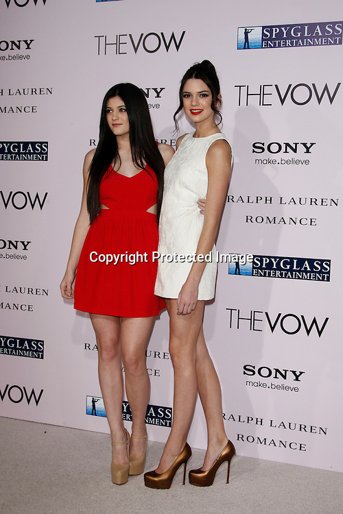 LOS ANGELES, CA - JAN 29: Kendall Jenner; Kylie Jenner at the premiere of Sony Pictures' 'The Vow' at Grauman's Chinese Theater on February 6, 2012 in Los Angeles, California