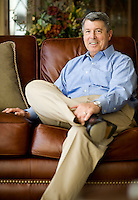 Former banker John Halliburton (cq), who was recently laid off after his bank downsized in December, at his home in Allen, Texas, Monday, March 2, 2009. Like many in his situation, John has met with a job coach to decide where to lead his career. ..MATT NAGER/ SPECIAL CONTRIBUTOR