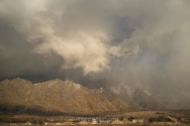 mountains, clouds, snow. north of Ogden, Utah, Wednesday, November 30, 2011.