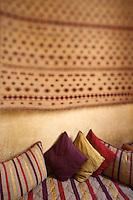 Afrique/Afrique du Nord/Maroc/Essaouira: Riad: Villa Garance, détail décoration d'une chambre