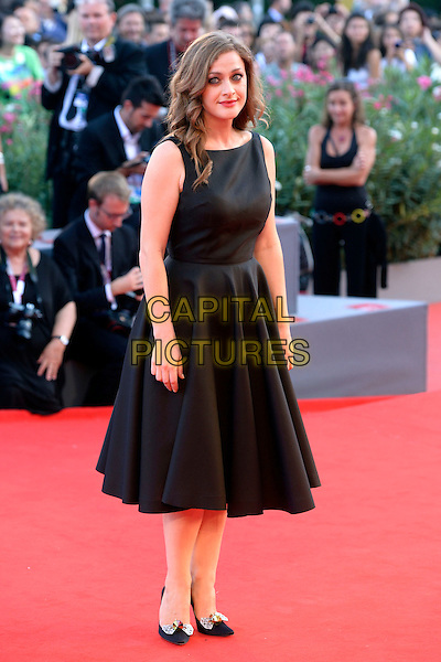 Eleni Roussinou<br /> attending the Closing Ceremony of the 70th Venice International Film <br /> Festival at Palazzo del Cinema in Venice, Italy, September 7th 2013.<br /> full length black dress sleeveless shoes bows <br /> CAP/ZZG<br /> &copy;ZZG/Capital Pictures