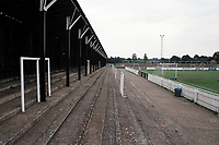 Covered terracing at Bromley FC Football Ground, Hayes Lane, Bromley, Kent, pictured on 30th January 1994