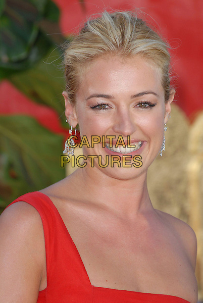 CAT DEELEY.58th Annual Primetime Emmy Awards held at the Shrine Auditorium, Los Angeles, California, USA..August 27th, 2006.Ref: ADM/CH.headshot portrait diamond earrings one shoulder.www.capitalpictures.com.sales@capitalpictures.com.©Charles Harris/AdMedia/Capital Pictures.