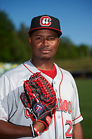 Chattanooga Lookouts pitcher Randy Rosario (25) poses for a photo before a game against the Jackson Generals on April 27, 2017 at The Ballpark at Jackson in Jackson, Tennessee.  Chattanooga defeated Jackson 5-4.  (Mike Janes/Four Seam Images)