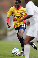 Sumed Ibrahim of the Fire. The MetroStars defeated the Chicago Fire 2-0 during the inaugural Hall of Fame game on Monday October 11, 2004 at At-A-Glance Field at the National Soccer Hall of Fame and Museum, Oneonta, NY..