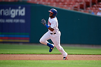 Buffalo Bisons Socrates Brito (51) running the bases during an International League game against the Norfolk Tides on June 21, 2019 at Sahlen Field in Buffalo, New York.  Buffalo defeated Norfolk 2-1, the first game of a doubleheader.  (Mike Janes/Four Seam Images)
