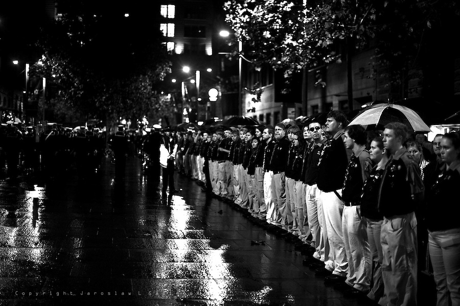 ANZAC DAY Sunset, Service The Cenotaph, Sydney, 2010