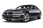 Stock pictures of low aggressive front three quarter view of 2017 BMW 7 Series 740i 4 Door Sedan Low Aggressive