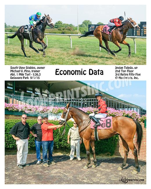 Economic Data winning at Delaware Park on 9/1/15
