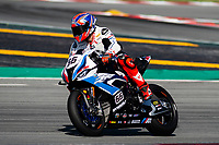 8th July 2020; Circuit de Barcelona Catalunya, Barcelona, Spain; FIM Superbike World Championship testing, Day One; Tom Sykes of the MW Motorrad WORLDSBK Team in action with the BMW S1000 RR