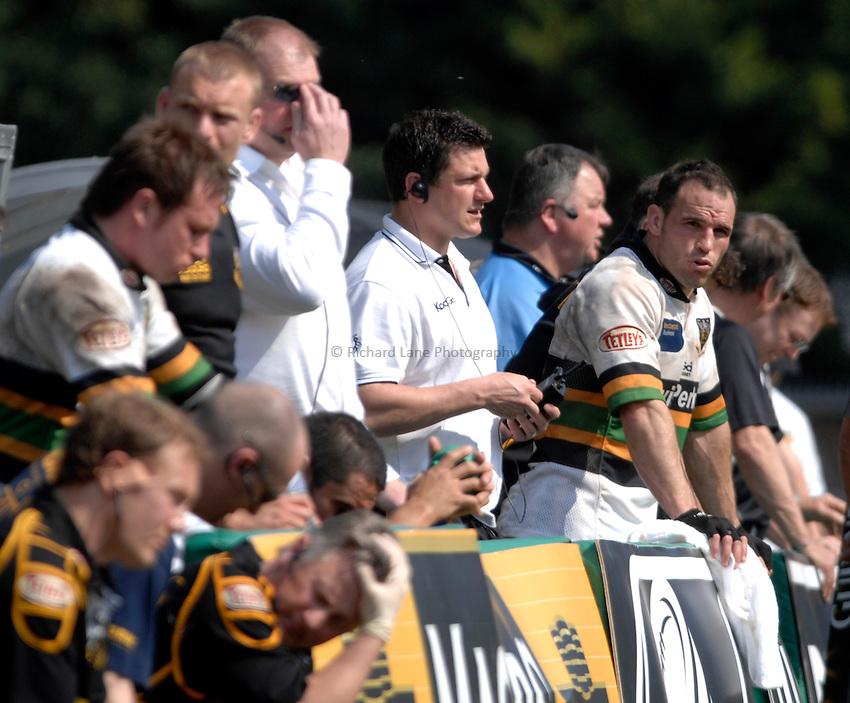 Photo: Richard Lane..London Wasps v Northampton Saints. Guinness Premiership. 15/04/2007. .Saints' Director of Rugby, Paul Grayson (c).