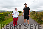 Aoife & Damien Murphy from Ardcost, Portmagee on the final leg of their 333Km journey to raise money for Cunamh Iveragh.