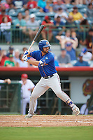 St. Lucie Mets right fielder Wuilmer Becerra (28) at bat during a game against the Florida Fire Frogs on July 23, 2017 at Osceola County Stadium in Kissimmee, Florida.  St. Lucie defeated Florida 3-2.  (Mike Janes/Four Seam Images)