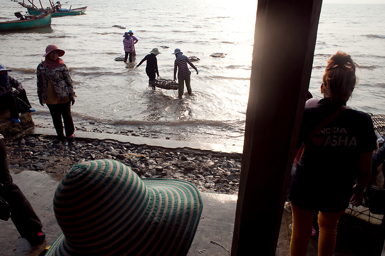 The famous crab market in Kep, a tourist town on the coast of Cambodia. <br /> <br /> Photos &copy; Dennis Drenner 2013.