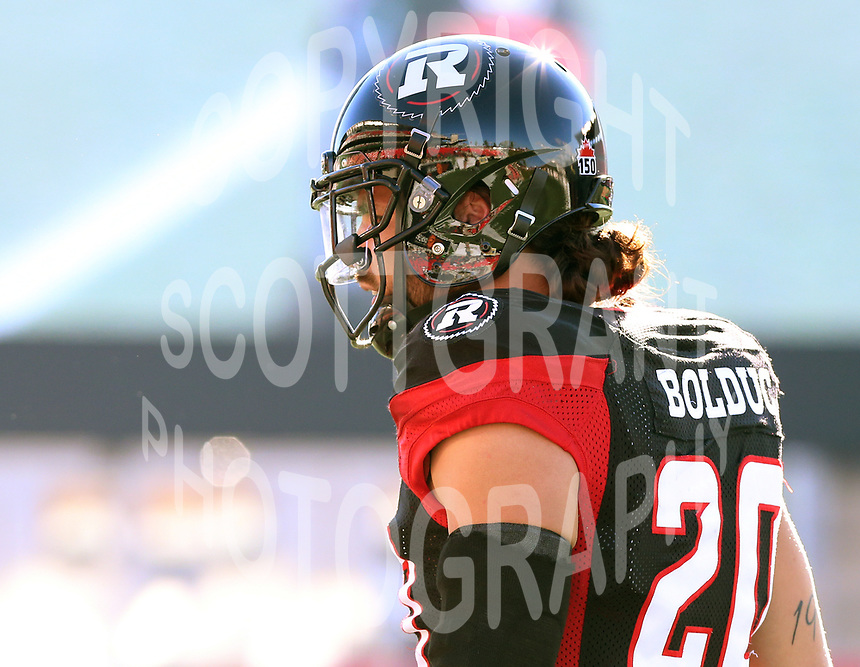 Jean Philippe Bolduc Ottawa RedBlacks-8july2017-Photo: Scott Grant