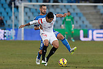Getafe´s Lacen and Sevilla´s Ever Banega during 2014-15 La Liga match at Alfonso Perez Coliseum stadium in Getafe, Spain. February 08, 2015. (ALTERPHOTOS/Victor Blanco)