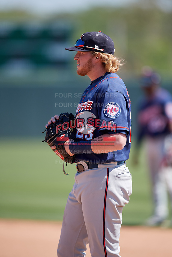 Minnesota Twins Kolton Kendrick (23) during a Minor League Spring Training game against the Tampa Bay Rays on March 15, 2018 at CenturyLink Sports Complex in Fort Myers, Florida.  (Mike Janes/Four Seam Images)