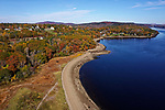 Aerial view of Stockton Springs, Maine