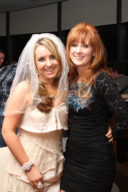 Claire Anderson with Leanne Mullen at her Hen in Bru...(Photo credit should read Jenny Matthews www.newsfile.ie)....This Picture has been sent you under the condtions enclosed by:.Newsfile Ltd..The Studio,.Millmount Abbey,.Drogheda,.Co Meath..Ireland..Tel: +353(0)41-9871240.Fax: +353(0)41-9871260.GSM: +353(0)86-2500958.email: pictures@newsfile.ie.www.newsfile.ie.