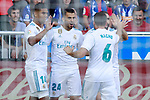 Real Madrid's Carlos Henrique Casemiro, Dani Ceballos, Nacho Fernandez and Daniel Carvajal celebrate goal during La Liga match. September 23,2017. (ALTERPHOTOS/Acero)