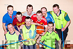 Castleisland District Macra members at their sports night in Currow on Thursday night front row l-r: Stephen Long, David Horan, Sean Joy. Back row: Gearoid O'Shea, Ronert Moriarty, Sean O'Sullivan, Alan o'Connor Thomas Fiztgerald and Trevor Coffey
